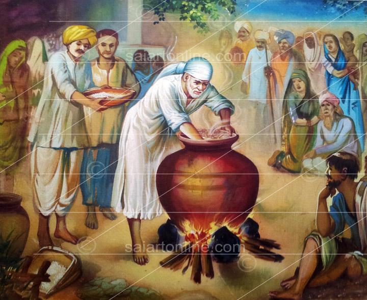 Shop Sai Baba Original Painting From Shirdi Sai Art Gallery